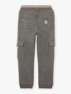Pantaloni sportivi grigio melange bambino BIGLAGE / 21H3PGJ3PAN944