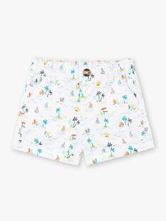 Shorts bianchi e blu con stampa fantasia. ZATOM / 21E1BGU1SHO001