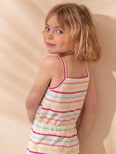 Salopette corta da spiaggia ecrù bambina ZAOPLETTE / 21E2PFQ2SAC001
