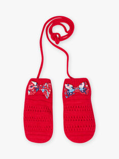 Muffole in maglia rossa bambina BLOZAPETTE / 21H4PFE1GAN308