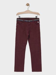 Pantaloni porpora motivi spigati bambino SIROUAGE / 19H3PGO1PANF511