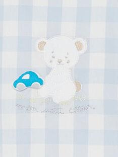Salopette corta a quadri neonato TUVOUKI / 20E0CGR2SAC213