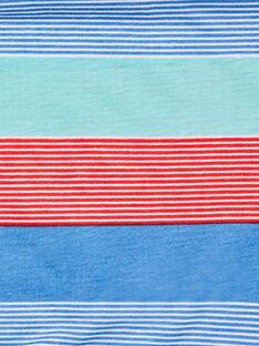 Scaldacollo blu e rosso con righe fantasia ZASNODAGE / 21E4PGJ1SNOG621