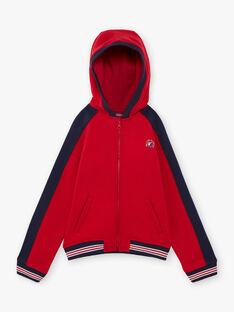 Felpa con cappuccio rossa e navy bambino BAGE / 21H3PG11GIL050