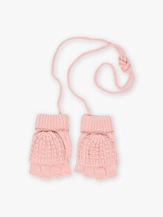 Muffole rosa con motivi cuori bambina BLODUETTE / 21H4PFD1GAND300