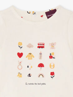 T-shirt ecrù double face neonata BAEMY / 21H1BF51TEE001