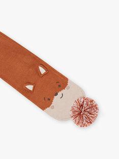 Sciarpa con pompon e motivo volpe neonato BIOTIS / 21H4BGD1ECH809