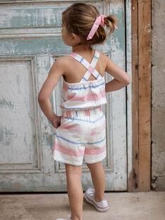 Salopette corta a righe colorate bambina ZUQOBETTE / 21E2PFT1SAC001