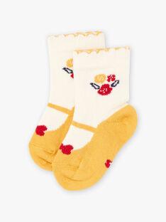 Calze con motivo scarpe Baby e fiori neonata BAELAYA / 21H4BF51SOQ001