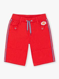 Bermuda rosso in cotone Dobby ZAFLAGE / 21E3PGI1BER502