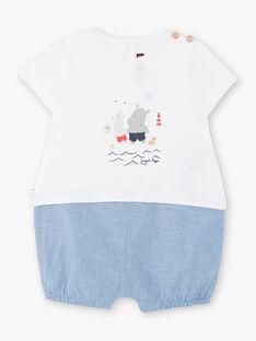 Tuta bianca e blu neonato ZAOUEST / 21E1BGT1CBL000