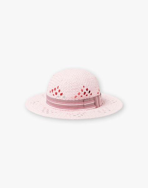 Cappello di paglia rosa bambina ZTIUETTE / 21E4PFV1CHAD317