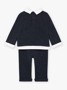Completo blu melange con motivo pecora neonato BANICK / 21H1BGL1ENSC223