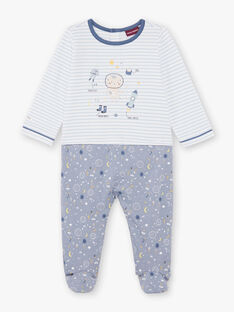 Tutina blu e bianca neonato BEAXEL / 21H5BG66GRE205