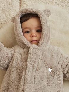 Tutina imbottita beige in finta pelliccia orsetto nascita unisex BOURBEAU / 21H0CMK1PIL806