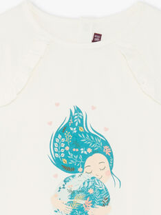 T-shirt maniche lunghe bambina ZATILETTE / 21E2PF71TML009